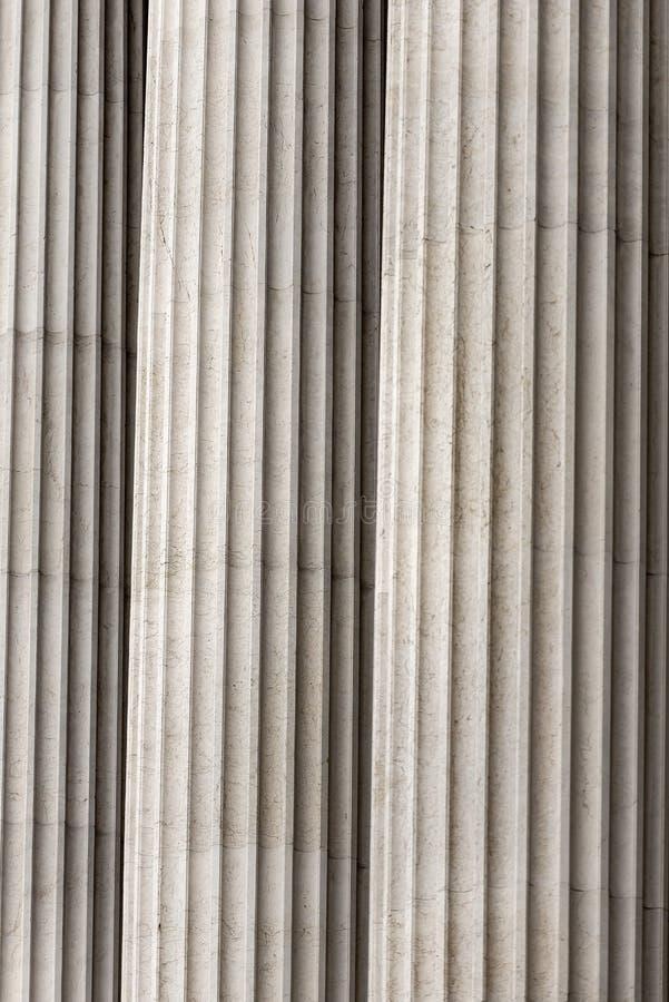 Detail von Spalten - della Patria Rom Vittoriano oder Altare stockfotos