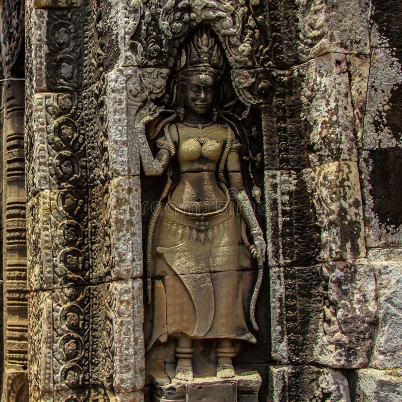 Detail von Steincarvings im angkor wat, Kambodscha stockbilder