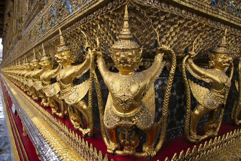 Detail von Wat Phra Kaew, Bangkok lizenzfreie stockfotografie