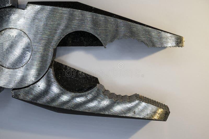 Detail von Zangen stockfoto