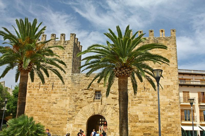 Street of Alcudia royalty free stock photography