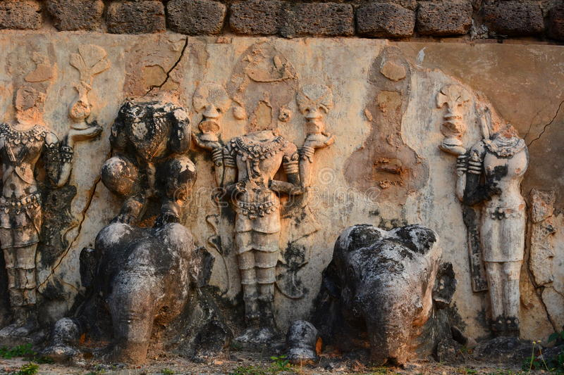 Detail. Wat Chedi Si Hong. Historical Park. Sukhothai. Thailand. The Sukhothai Historical Park covers the ruins of Sukhothai, literally Dawn of Happiness stock photos