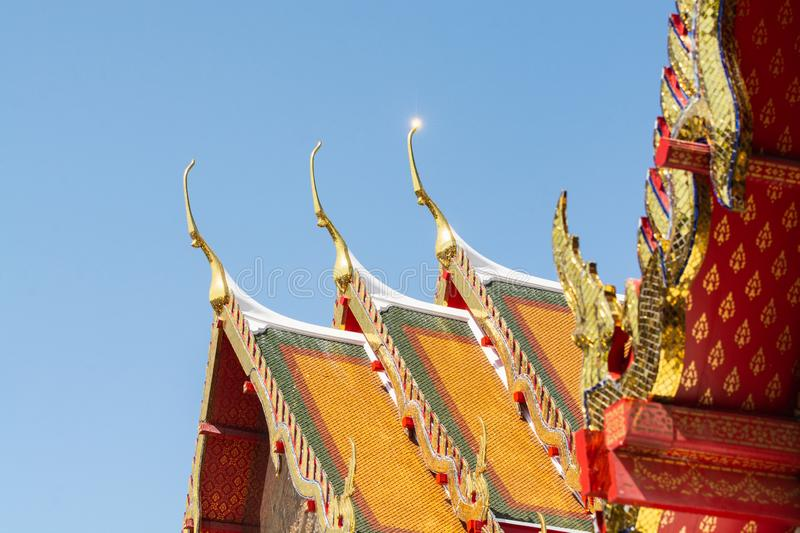 Detail of the Wat Pho Reclining Buddha temple complex in Bangkok, Thailand stock photography