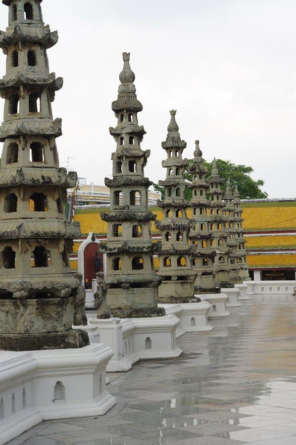 Detail in Wat Suthat Thep Wararam stock photography