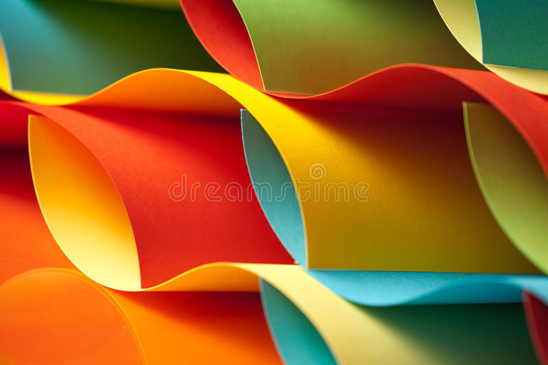 Detail of waved colored paper structure royalty free stock image