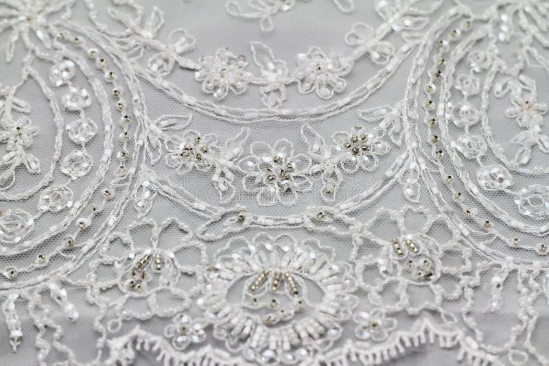 Detail of wedding dress. (macro stock photos