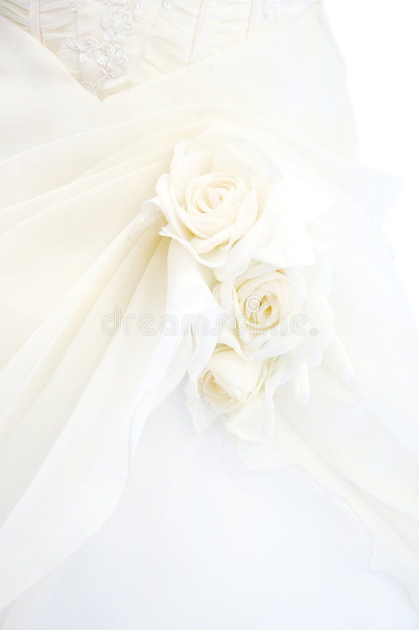 Detail Of Wedding Dress Royalty Free Stock Photos