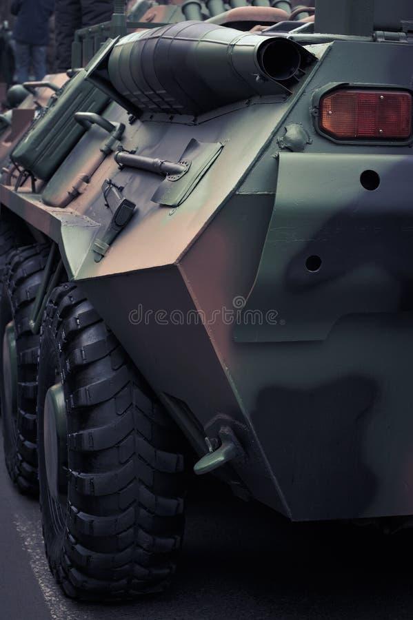 Detail of a wheeled amphibious stock photo