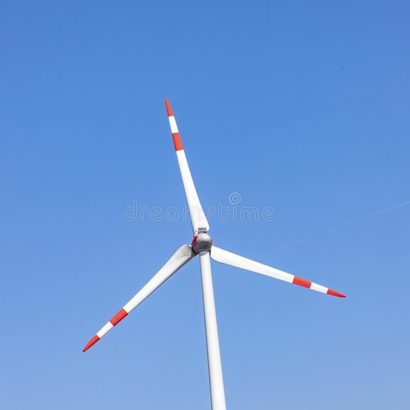 Detail of wind generator stock photography