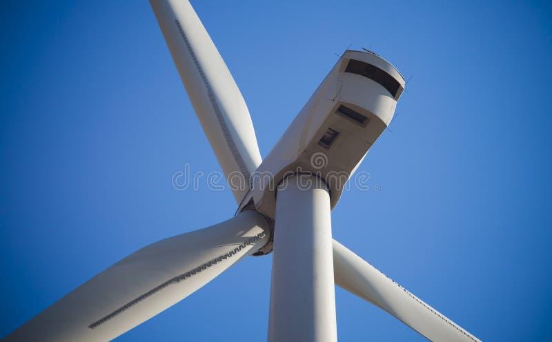 Detail of wind turbine royalty free stock photo