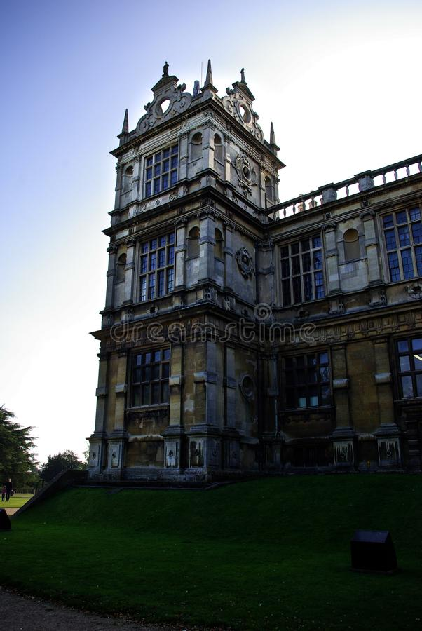 Detail of Wollaton`s hall facade royalty free stock photo