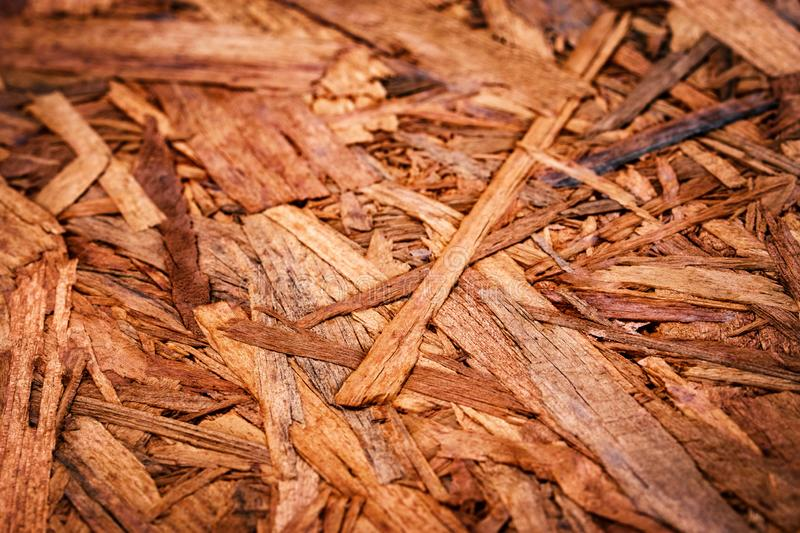 Detail on wood chipboard. Abstract background or texture detail on wood chipboard stock photography