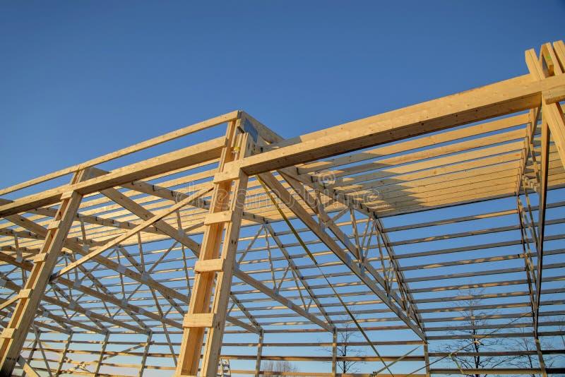 Barn wood framing royalty free stock photography