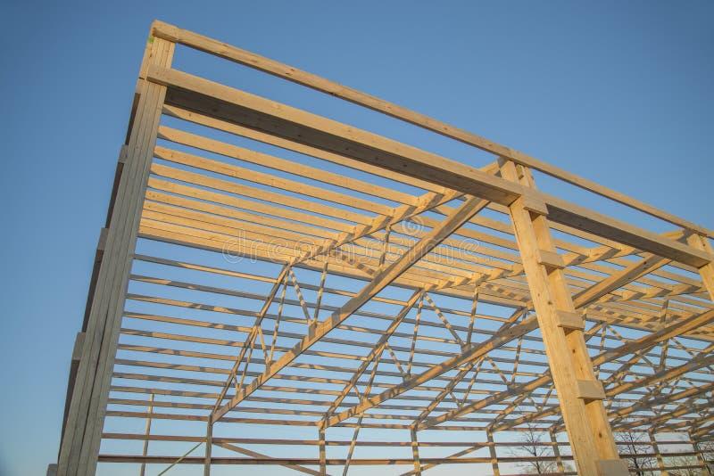 Barn wood framing stock images