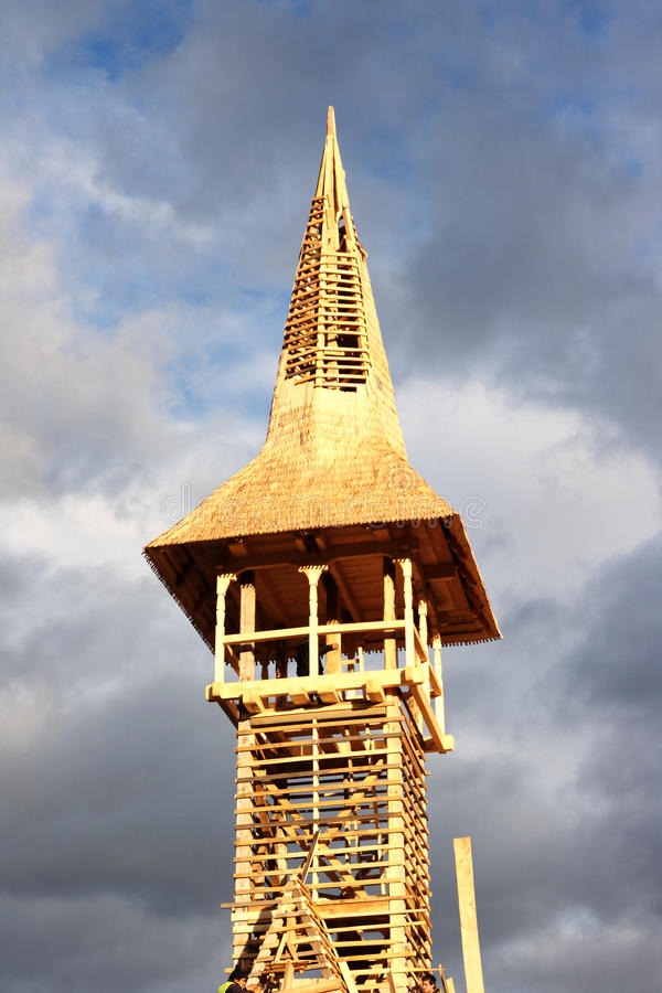 Download Detail Of Wooden Bell Tower Being Built Stock Image - Image: 17842093