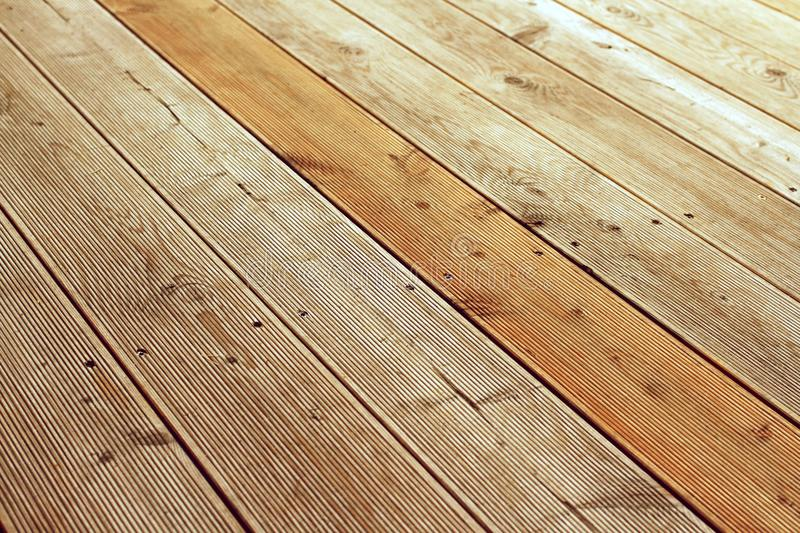 Detail of wooden patio. royalty free stock images