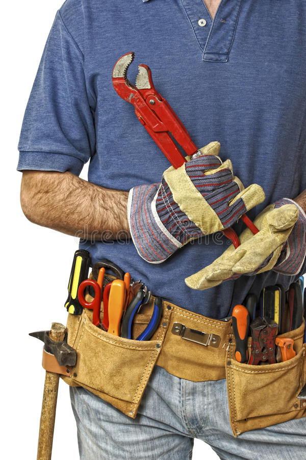 Detail of worker royalty free stock images