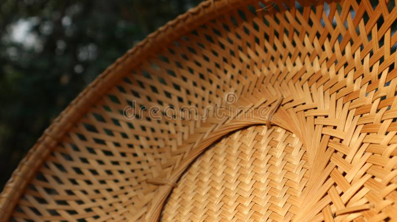 Detail of woven bamboo texture stock images