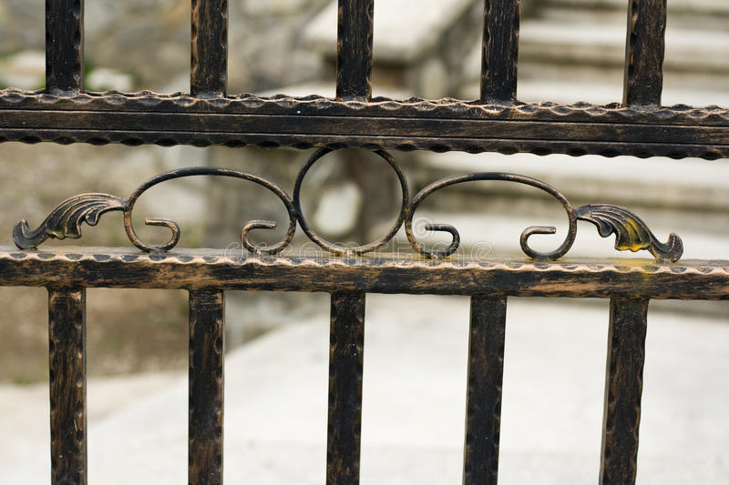 Iron Fence Stock Image Image Of Patinated Line Forged