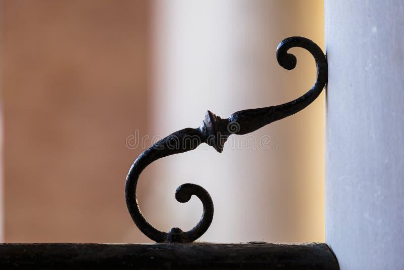 Detail of wrought ironwork stock photo