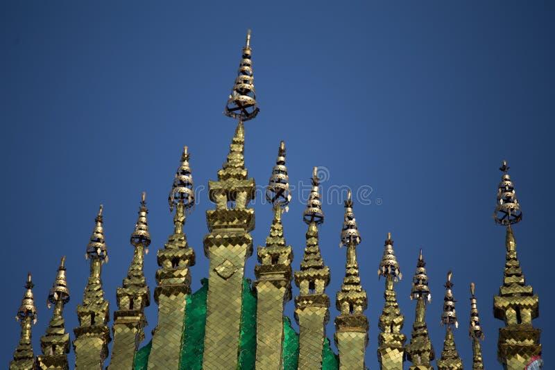 Detail of Xieng Thong temple Luang Prabang royalty free stock images