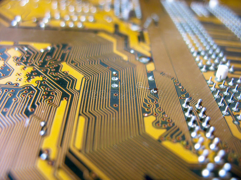 Download Detail Of Yellow Circuit Board Stock Photo - Image: 25493010