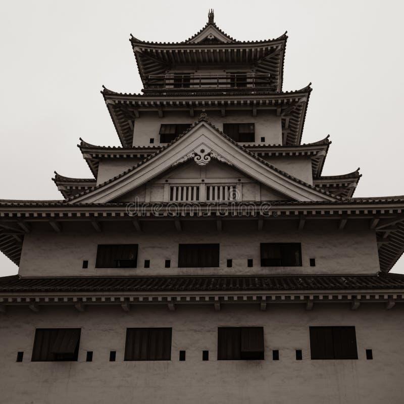 Detailansicht ?ber Imabari-Wasser-Schloss Imabari, Ehime-Pr?fektur, Japan lizenzfreie stockfotos