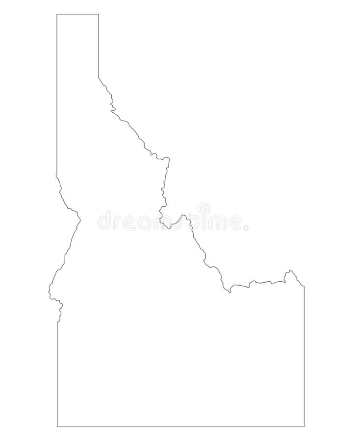 Map of Idaho. Detailed and accurate illustration of map of Idaho royalty free illustration