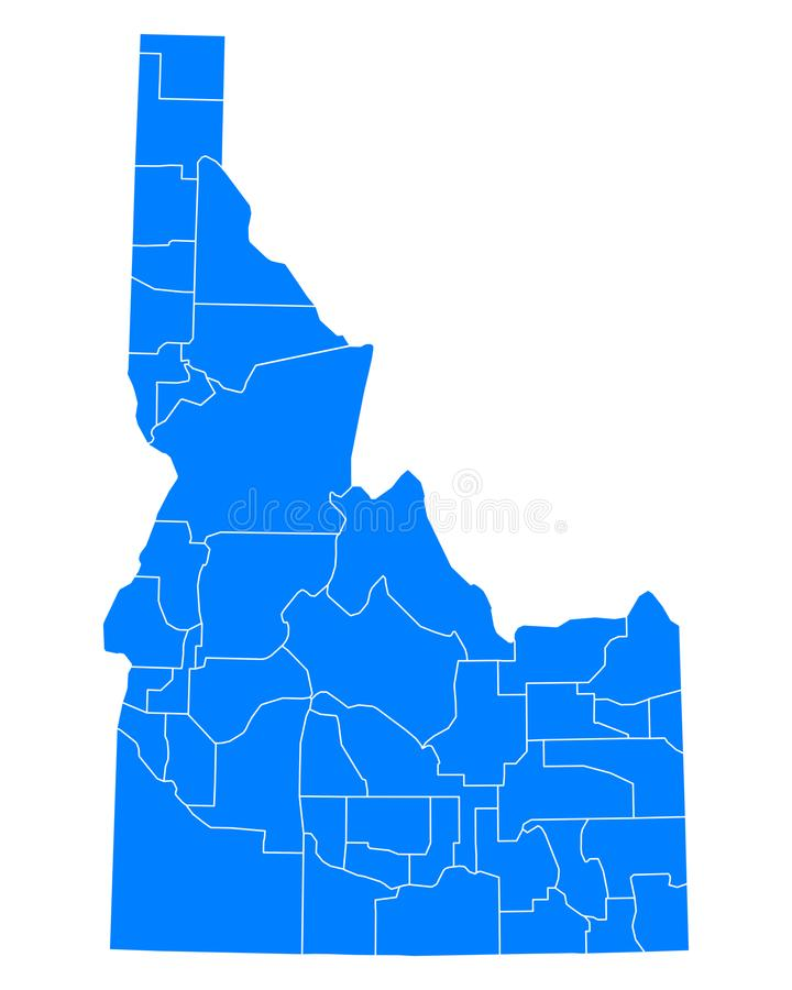 Map of Idaho. Detailed and accurate illustration of map of Idaho vector illustration