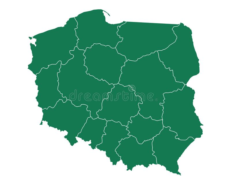 Map of Poland royalty free illustration