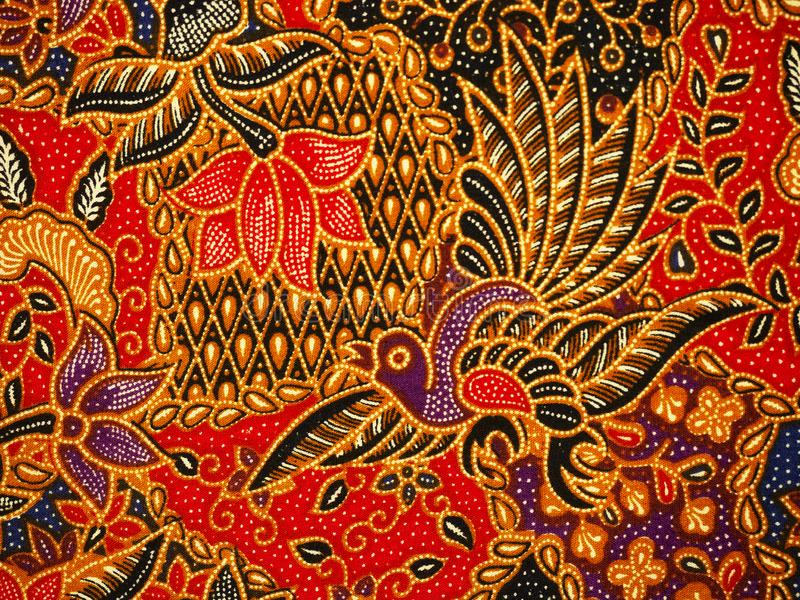 Batik pattern, Solo, Indonesia. Detailed batik print background, Solo, Indonesia royalty free stock photography