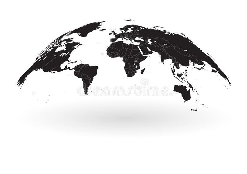 Black world map globe isolated on white background stock vector download black world map globe isolated on white background stock vector illustration of ocean gumiabroncs Images