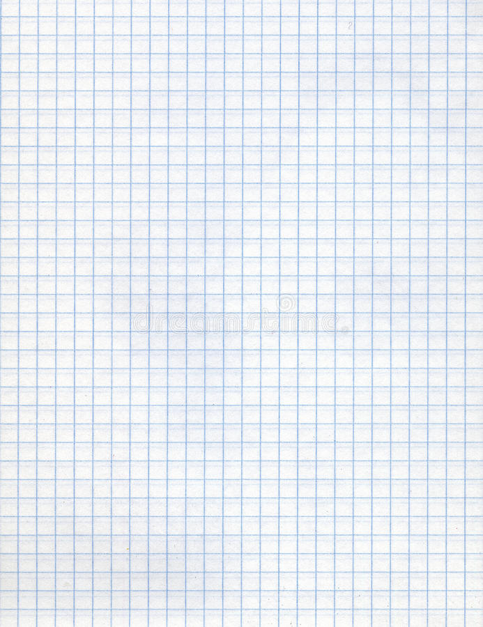 Detailed Blank Math Paper Pattern Stock Image Image Of