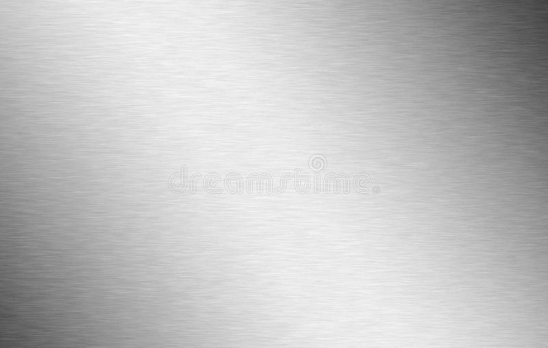 Detailed brushed aluminium in silver stock image