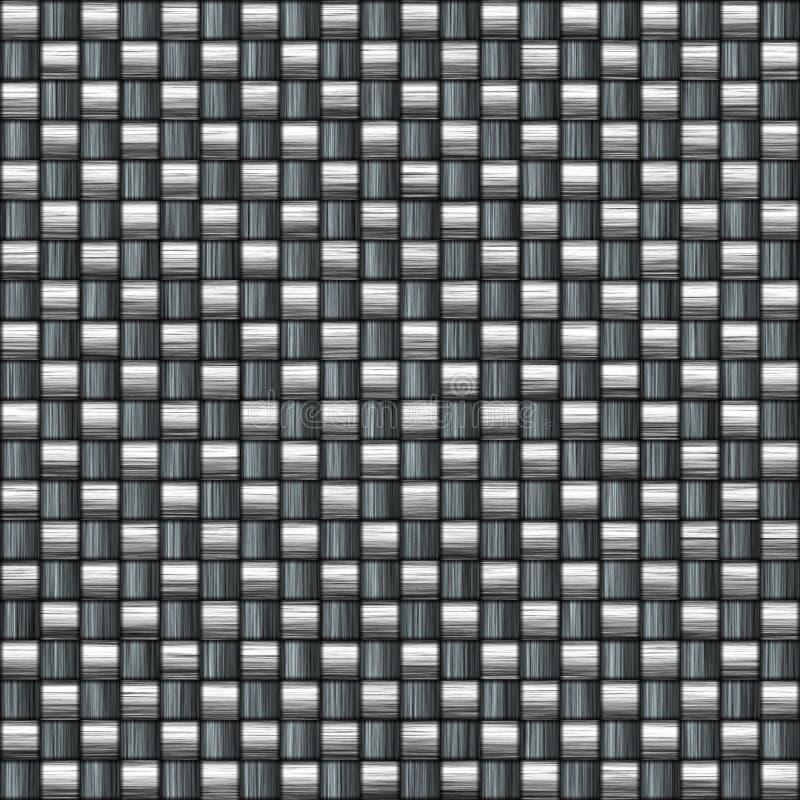 Detailed carbon fiber royalty free illustration