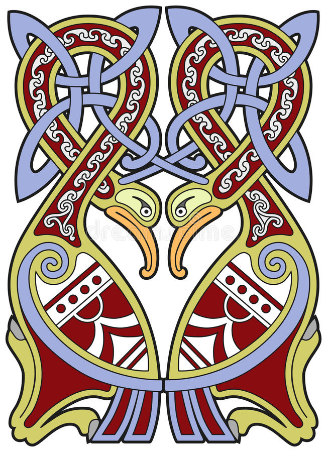 Download Detailed Celtic Design Element With Birds Royalty Free Stock Images - Image: 18859839