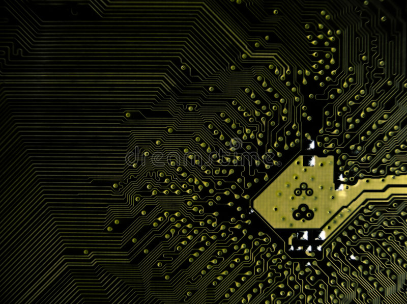 Detailed circuit board stock photography