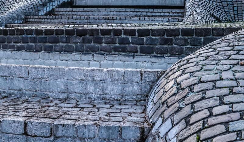 Detailed close up on old cobblestone roads in urban areas and old towns. In germany royalty free stock photos
