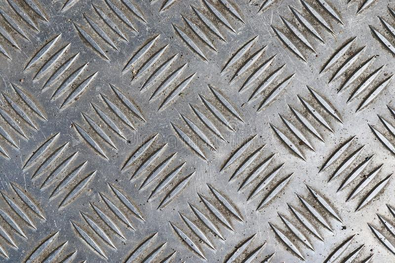 Detailed close up view on metal and steel surface textures in high resolution stock photo