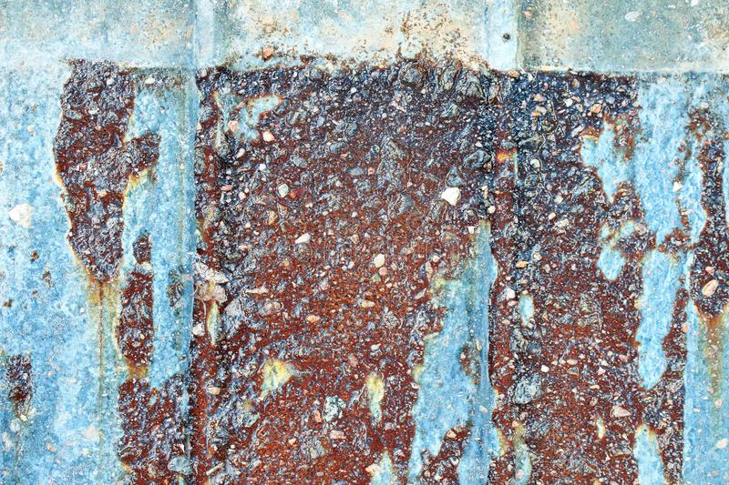 Detailed close up view on mixed rusty and concrete metal walls. Found in germany stock images