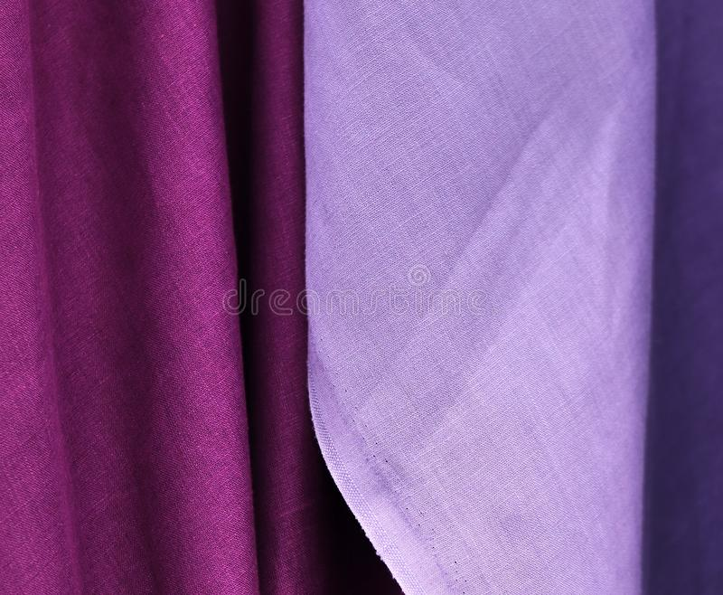 Detailed close up view on textile and fabric textures found at a local textile market. In germany royalty free stock photo