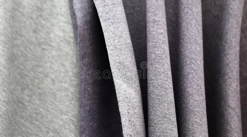 Detailed close up view on textile and fabric textures found at a local textile market. In germany stock photography