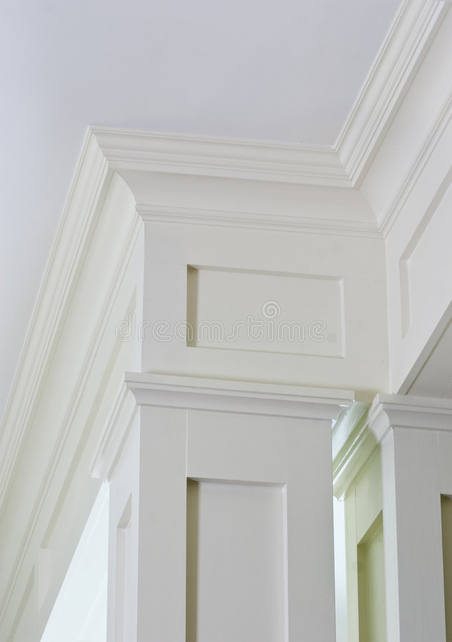 Detailed crown molding royalty free stock photo