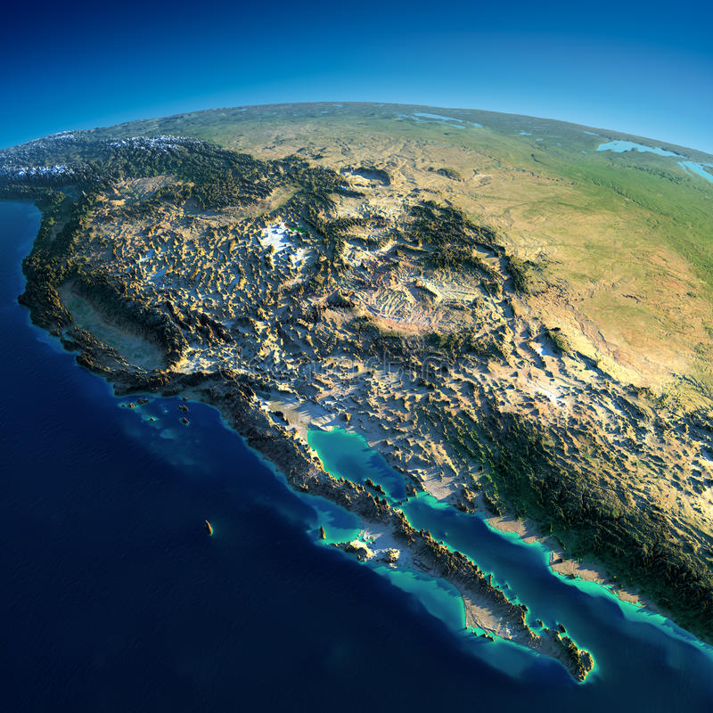 Download Detailed Earth. Gulf Of California, Mexico And The Western U.S. States Stock Image - Image: 30711171