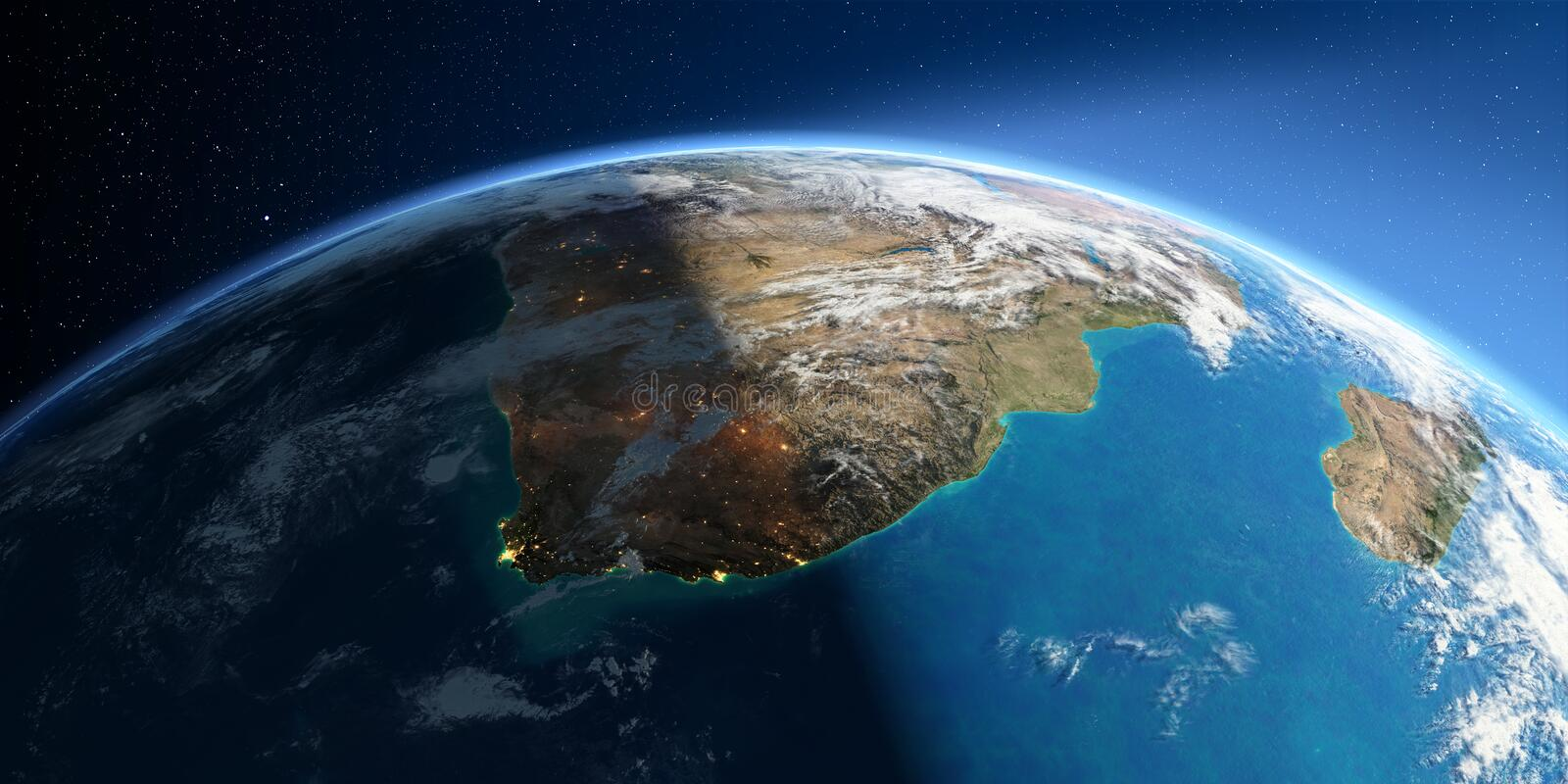 Detailed Earth. South Africa royalty free illustration