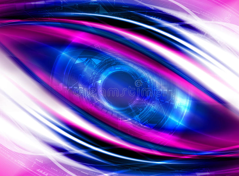 Detailed Futuristic Background Royalty Free Stock Photography