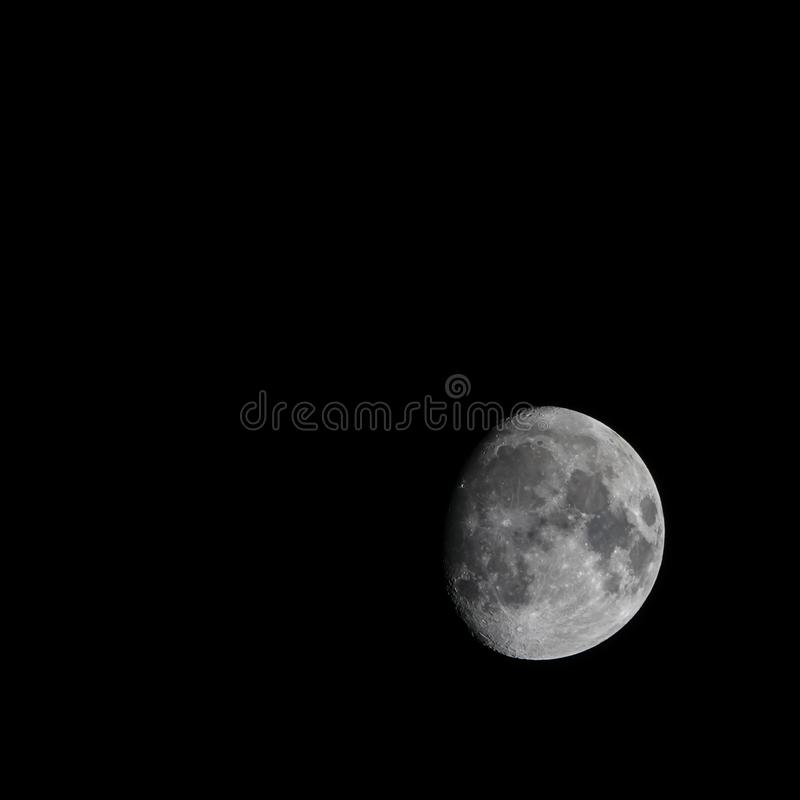Detailed half moon picture. royalty free stock image