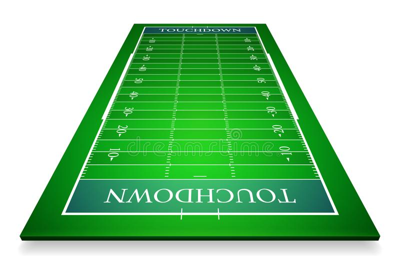 Detailed illustration of an American Football fields with perspective, eps10 vector.  vector illustration