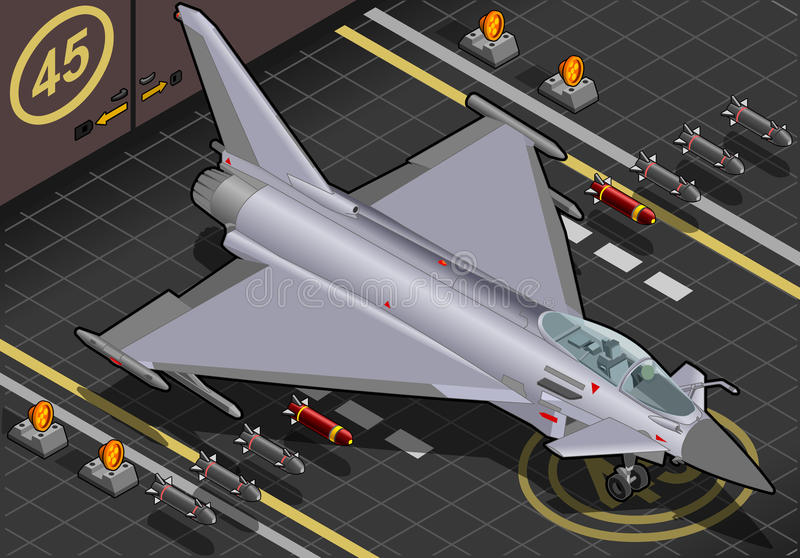 Download Isometric Eurofighter Landed In Front View Stock Photo - Image of special, isometric: 29871506