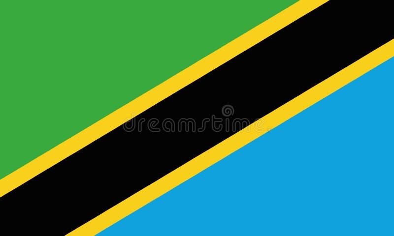 National Flag Tanzania royalty free illustration